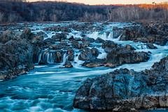Golden Hour At The Falls (jiroseM43) Tags: greatfalls greatfallsnationalpark m43 potomacriver river waterfalls olympus omdem1markii em1markii lumixgvario35100f28 nature water goldenhour
