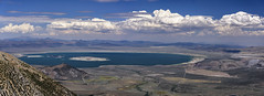 Mono Lake (speedcenter2001) Tags: panorama stitch widescreen ultrawide sierra sierranevada highsierra california wilderness hiking backpacking backcountry mountains johnmuirtrail jmt outdoor outside adventure sierraphile anseladamswilderness smoke mono lake clouds highdesert