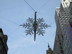 IMG_1589 (Brechtbug) Tags: 2019 snow flake star light christmas decor 5th avenue 57th street intersection with empire state building distance new york city december decoration holiday profile figure art architecture day evening afternoon buildings manhattan uptown midtown near central park 12082019 nyc snowflake night nite superman movie baby space ship