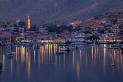 Chalki Harbor (hapulcu) Tags: aegean chalki dodecanese grece grecia greece griechenland halki yunanistan δωδεκάνησα ελλάδα χάλκη