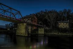 Motor Mill in  Christmas Season Glory! (jackalope22) Tags: motor mill le long exposure night lights christmas bridge