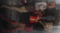 Cozy Little Christmas (tarja.haven) Tags: blueberry nomatch diversion posefairevent tuckedtop skirtsbelt jeansbelt boots hair meshhair xmasgift gifthair groupgift pose bentopose photography photo pixelart tarjahaven event avatar sl digitalart fashion virtual