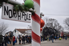 """""""Why to the North Pole, of course!"""" (AmtrakGuy365) Tags: pere marquette 1225 glc great lakes central owosso ashley michigan north pole express steam train trains railroad railway railfan railfanning christmas polar"""