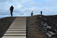 Rim Stairs (Sotosoroto) Tags: iceland vesturland borgarbyggð grábrók dayhike hiking volcano stairs