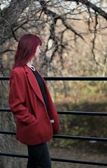 Red Coat (brock_p001) Tags: takumar vintage 50mm 14 f14 1960s fuji fujifilm fujix fujifilmxt3 xt3 supertakumar takumar50mm winter coat fashion fall oklahoma latefall