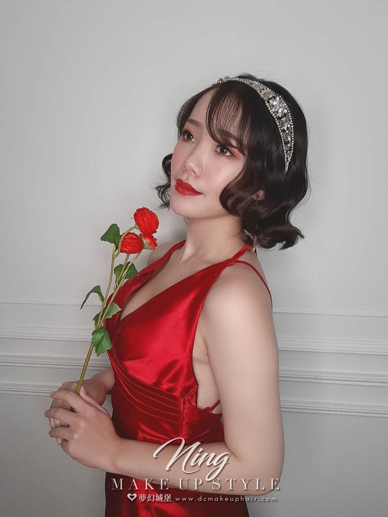 【新秘羽寧】新娘造型創作 / 短髮-女神風