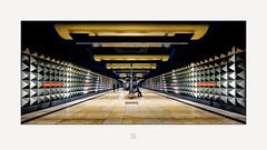 Olympia-Einkaufszentrum (antonkimpfbeck) Tags: olympiaeinkaufszentrum ubahn münchen munich architektur art fujifilm