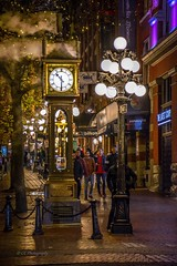 Right on 'Time' - Gastown Steam Clock (Christie : Colour & Light Collection) Tags: boys men framed gastown sidewalk citysidewalk cobblestone vancouver cityofvancouver worldsfirst gastownsteamclock steamclock walking 1977 historic historical gravitydriven douglaslsmith westminsterchimes outdoors popularsidewalk gastowndistrict vancouverlandmark landmark raymondlsaunders night lighting strolling vancouverbritishcolumbia lamppost nightphotography lowlightphotography lowlight historicgastown nationalhistoricsight canadianhistory vancouverhistory britishcolumbia history warehouses turnofthecentury canada metrovancouver vancouverbc clock time steam steampowered 1030pm waterstreetgastown waterstreet nikkor nikon