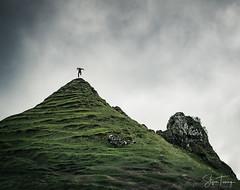 Fairy Glen Jump II (bin.angeknipst) Tags: uig scotland vereinigteskönigreich adobefuse clouds fairy fairyglen goblin highlands hills isleofskye jump landscapephotography photoshop weather