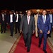 President Cyril Ramaphosa arrives at Togo's International Airport welcomed by Togonian President Faure Gnassingbe