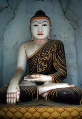 Budda mit der Bhumisparsha Mudra-Geste (walter 7.8.1956) Tags: 1981 budda bagan burma myanmar asien skulptur