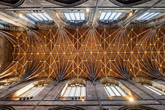 Chester Cathedral (Mister Oy) Tags: chester cathedral ceiling roof up upwards vaulted fujixpro2 fuji1024mm architecture arches building cheshire