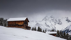 Glad I'm here (Peter Hungerford) Tags: switzerland hut mountains alps winter snow