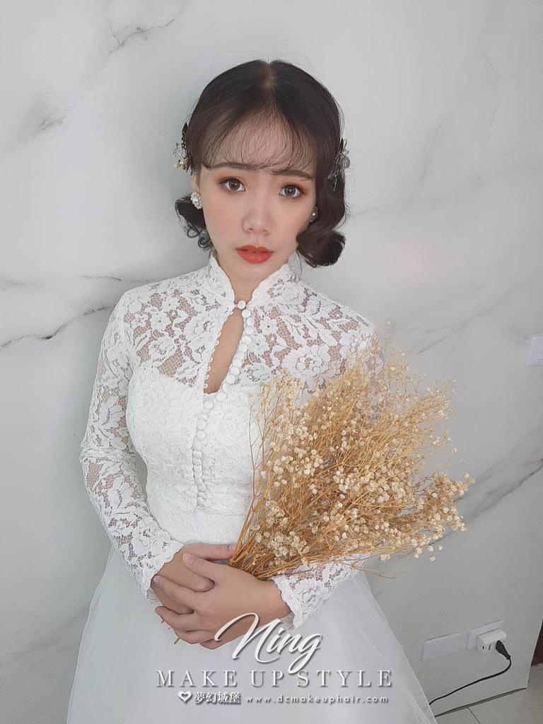 【新秘羽寧】新娘造型創作 / 短髮-輕復古造型