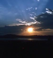 Sonnenuntergang in Bagan am Irrawady (walter 7.8.1956) Tags: 1981 myanmar bagan burma asien himmel fluss irrawady