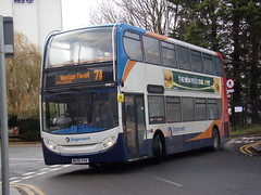 Stagecoach ADL Enviro 400 (ADL Trident) 19091 MX56 PHA (Alex S. Transport Photography) Tags: bus outdoor road vehicle stagecoach stagecoachmidlandred stagecoachmidlands route7a adlenviro400 enviro400 e400 adltrident 19091 mx56pha