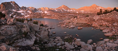 Before The Sun (please take time to check out the rest of my photos) (photography by Derek G) Tags: morning dawn predawn mountains water lake rocks wilderness sunrise highsierra muriallake alpine glow light hiking backpacking camping wildernesswandering landscape panoramic pano