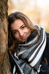 Weronika (Michał Banach) Tags: nikond850 poland poznań tamronsp85mmf18divcusd weronika beautiful beauty december female girl park polishgirl portrait portret scarf smile winter woman