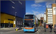 National Express 4835 (Lotsapix) Tags: westmidlands coventry nationalexpress travelcoventry bus buses dennis enviro enviro400 e400 alexander adl city church buildings ikea blue bx61lna susan