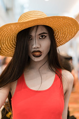 Vampire (Robycrux) Tags: model portrait 50mm sony comics passion dresses fancy western japan games video television series manga comic books cartoons anime details accessories fashion portmanteau play costume planet happy asia convention mbs colours colors heroes marvel cosplay comicon singapore beautyful people face eyes expression looking camera hair mask cloth conceptual diversity lifestyle impact oriental asian person female girl portraiture detail street closeup faceshot full view posing clarity