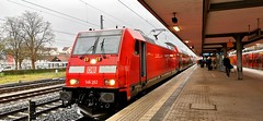 """146 262 ist mit dem RE6 """"Rhein-Weser-Express"""" aus Köln/Bonn Flughafen am Endbahnhof Minden(Westfalen) angekommen (claudio.bickel98) Tags: deutschebahn dbregio nahverkehr spnv regionalexpress bombardier traxx br146 minden westfalen bahnhof mobilität trainspotting"""