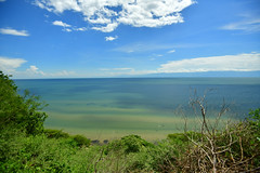 The blue-green waters of Lake Albert (supersky77) Tags: lakealbert kabwoyawildlifereserve uganda africa rift valley