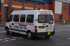 IMGP4834 (Steve Guess) Tags: leigh lancs lancashire greater manchester england gb uk bus rear jrs taxi ford transit airport express