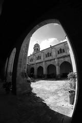 XE3F7251 - Catedral de la Natividad de Nuestra Señora, Baeza (Jaén) (Enrique R G) Tags: catedraldelanatividaddenuestraseñora catedral cathedral claustro cloister baeza jaen jaén andalucia andalucía andalusia españa spain fujifilmxe3 fujixe3 samyang8mm