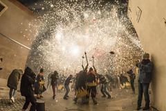 Fire on the streets (Santini1972) Tags: fire correfoc barcelona santandreu tradition satanica fisheye people party festivities nikond7500 catalonia catalunya spain devils diables street urban