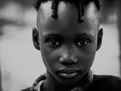 Another Himbaboy (gunnisal) Tags: africa portrait boy face eyes bw blackandwhite monochrome namibia ovahimba himba gunisal