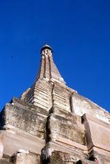 Himmelwärts (walter 7.8.1956) Tags: 1981 myanmar burma asien bagan tempel pagode himmel blau turm
