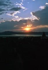 Sonnenuntergang in Bagan am Irrawady (walter 7.8.1956) Tags: 1981 irrawady burma myanmar asien fluss wolken tempel pagoden