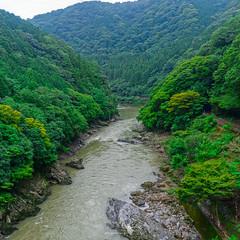 _D8E5955_HDR_LOGO (Ray 'Wolverine' Li) Tags: kameokashi kyōtoprefecture japan asia nature valley river steam green landscape summer