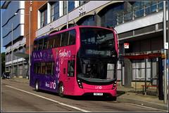 UNO 287 (Lotsapix) Tags: uno buses bus university northamptonshire northampton foxglove pink dennis enviro enviro400 e400 adl alexander yx67vfr
