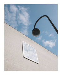 Leaning On (Thomas Listl) Tags: thomaslistl color köln cologne urban city lamp streetlamp facade window sky geometry geometric building 35mm