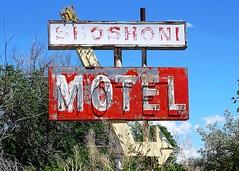 WY, Shoshoni-U.S. 26 Shoshoni Motel Ghost Neon Sign