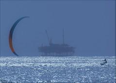 Belmont Shore (beachpeepsrus) Tags: nature beach beachfront belmontshorecalifornia kitesurfing oil ocean longbeachcalifornia light