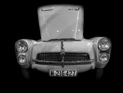Pegaso Z103 Spider Serra 2. 1956 (Miguel Ángel Prieto Ciudad) Tags: pegaso car auto motor automotive automobile lowkey bnw monochrome blackandwhite sonyalpha alpha3000 mirrorless emount