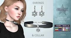 Snowflake Collar & Earings (*StarSugar*) Tags: snowflake collar necklace earing earings snow flake diamond winter christmas xmas second life sl star sugar starsugar ss