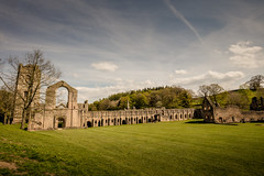Fountains Abbey (michael_d_beckwith) Tags: fountainsabbey fountains abbey ruin ruins church churches religion religious holy sacred arch arches gothic gothical place places exterior outside architecture architectural building buildings historic historical history old famous landmark landmarks heritage tourism england english british european ripon yorkshire grounds public domain creative commons zero o free stock pic picture photo photograph large big michaeldbeckwith michael d beckwith