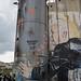 Bethlehem, die Mauer: Trump-Graffiti am Wachturm