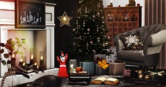 Be like the star shining bright (Alexa Maravilla/Spunknbrains) Tags: peaches fameshed 22769 arcade madras kraftwork ariskea secondlife decor holiday christmas decoration interiordesign indoors fancydecor hive whimsical tannenbaum trompe loeil
