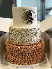 IMG_7982 (backhomebakerytx) Tags: birthday horse home cake back texas bakery squiggles texasbakery backhomebakery three tier ruffles