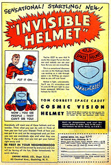 Invisible Helmet, 1953 ad (gameraboy) Tags: invisiblehelmet vintage ad ads advertising advertisement vintagead vintageads 1953 1950s helmet toy toys vintagetoys