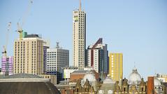 _D3S4310 (BobPetUK) Tags: leeds sunny sky skyline building buildings skyscraper skyscrapers construction crane cranes winter fine cloudless