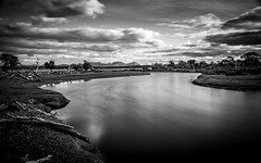 I am standing up at the water's edge in my dream (.KiLTЯo.) Tags: kiltro cl chile longexposure magallanes tierradelfuego ríogrande timaukel river water landscape clouds sky bw blackandwhite elitegalleryaoi bestcapturesaoi aoi