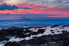 Blue hour (j1985w) Tags: california pescadero beach ocean rocks tidepools sunset sky clouds bluehour longexposure hdr reflection