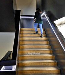 Up, Up & Away-1 (Anthony D Barraclough) Tags: female stairs climbing atmospheric