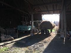 Barn (verblickt) Tags: barn hay trailer inside rural