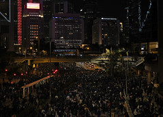 """""""another fabulous sunday night!"""" 191208 (hugo poon - one day in my life) Tags: xt30 35mm hongkong 2019 march protest people crowd citynight colours lights bankofchinabuilding dark tram extraditionlaw"""
